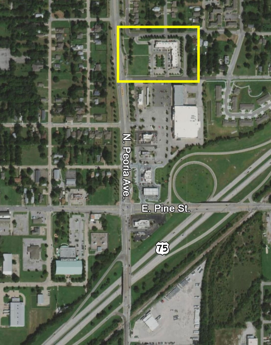Location of Shoppes on Peoria